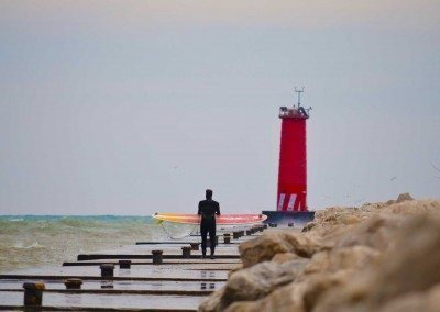 Surf season in Sheboygan