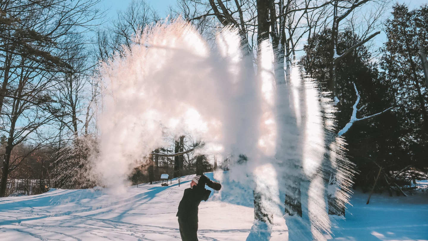 Turn Boiling Water into Snow